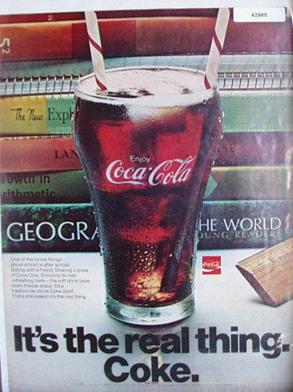 Coca Cola 1970 Ad.