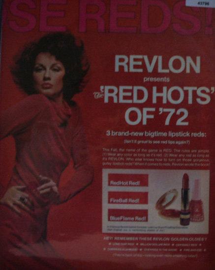Revlon Red Hots 1971 Ad