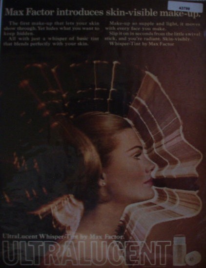 Max Factor Ultra lucent Make Up 1969 Ad