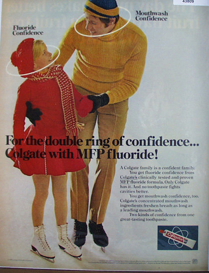 Colgate Toothpaste with Fluoride 1972 Ad