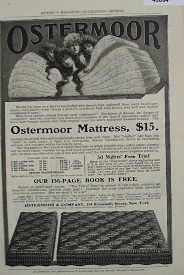 Ostermoor And Co. Mattress 1907 To 1912 Ad