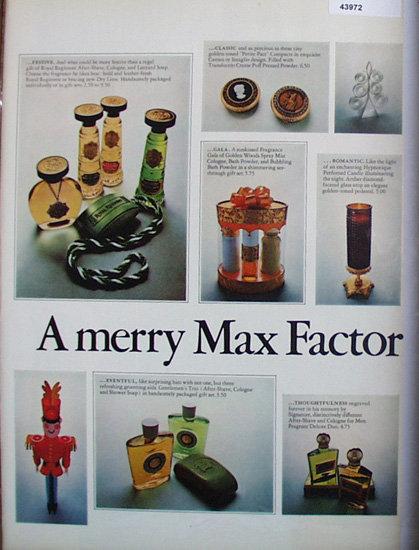 Max Factor Cosmetics 1967 Ad