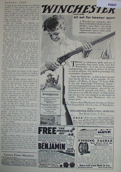 Winchester Repeating Arms Co. 1929 Ad