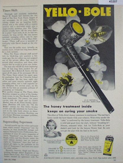 Yellow Bole Pipe 1920 Ad