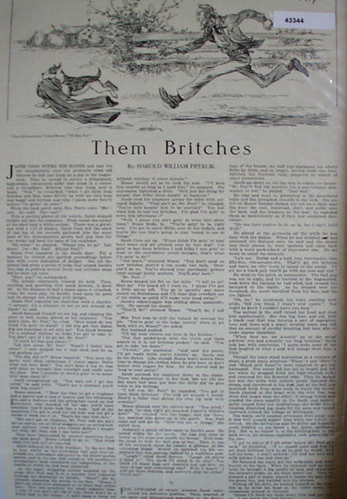 Them Britches 1914 Short Story