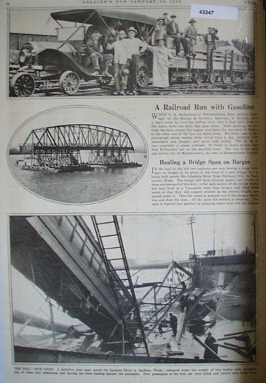 Railroad and two Bridges 1916 Article