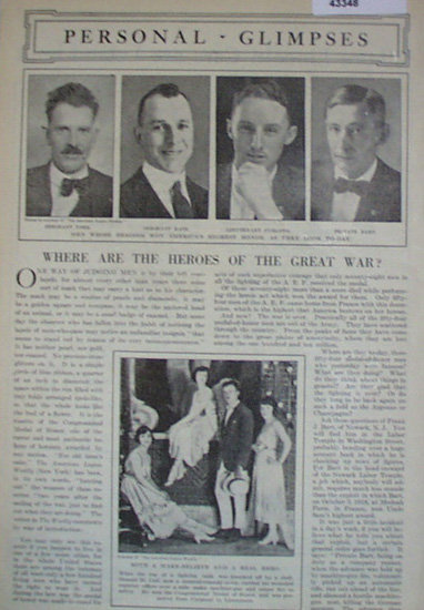 Personal Glimpses War Heroes 1920 Article