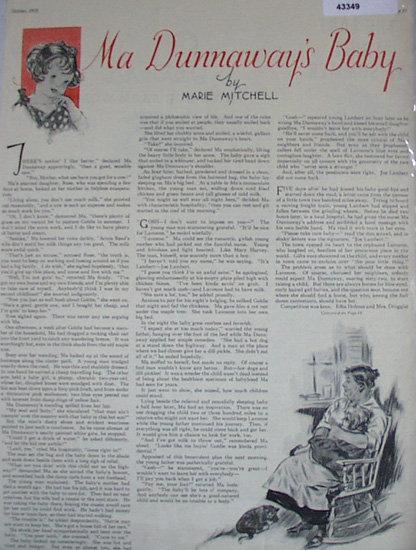 Ma Dunnaways Baby 1935 Short Story.
