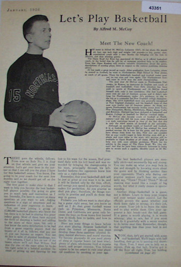 Lets Play Basketball 1936 Article