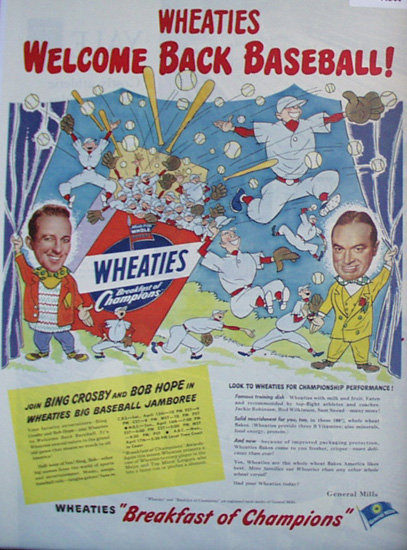 Wheaties Cereal 1950 Ad