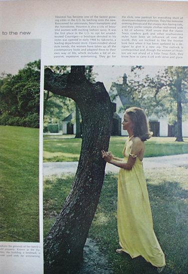 Houston Fashion Savvy City 1969 Article