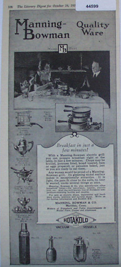 Manning Bowman Quality Ware 1920 Ad