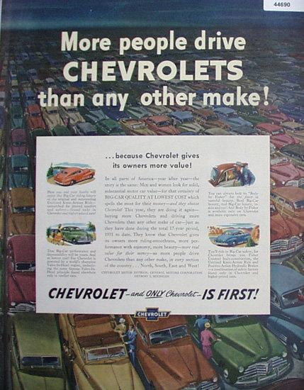 Chevrolet 1948 Car Ad.