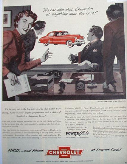 Chevrolet Styleline De Luxe Car 1950 Ad