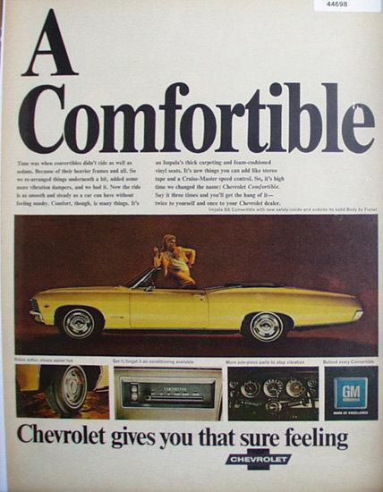 Chevrolet Impala Convertible 1967 Ad