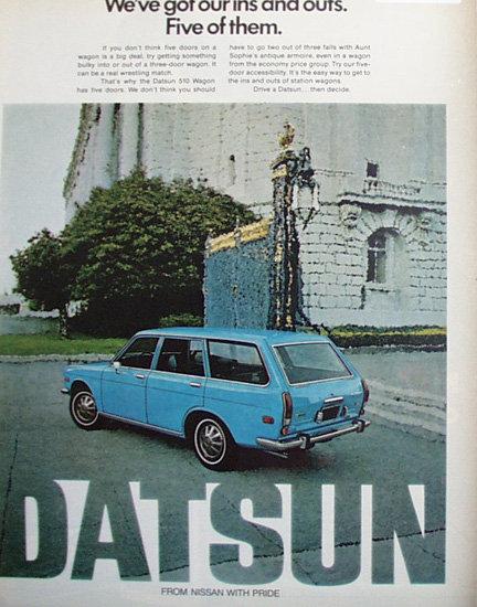 Datsun Car 1971 Ad.