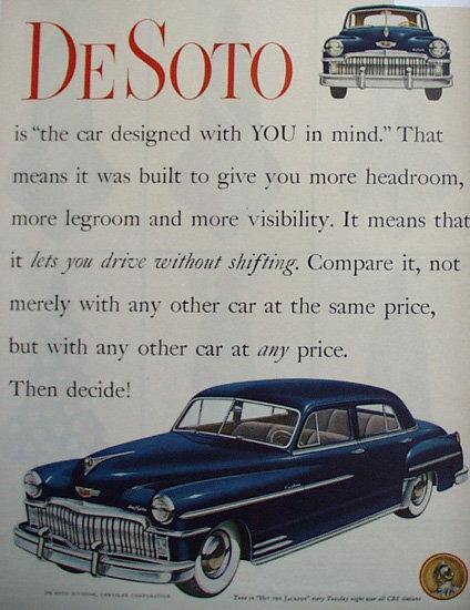 DeSoto Car 1949 Ad.