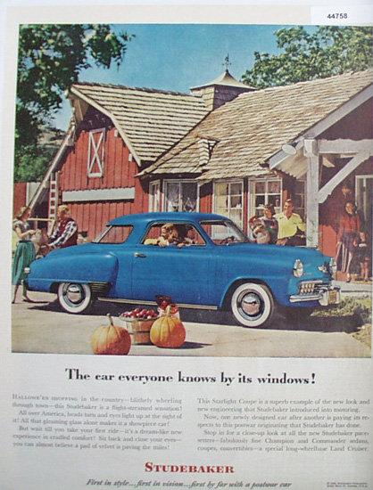 Studebaker Starlight Coupe Car 1948 Ad