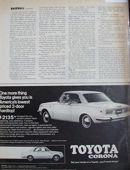 Toyota Corona 1969 Ad