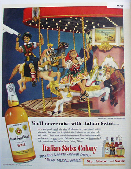 Italian Swiss Colony Wine 1950 Ad