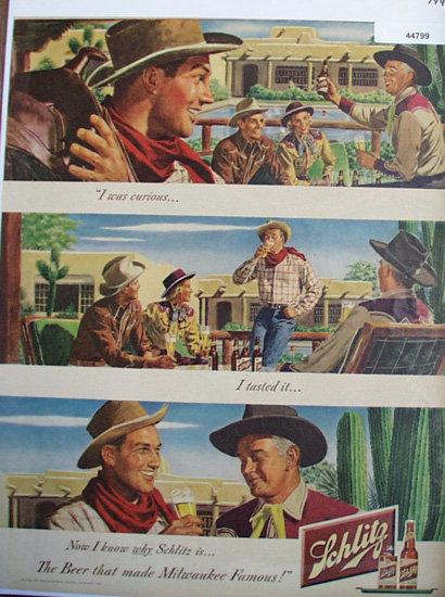 Schlitz Beer 1948 Ad.
