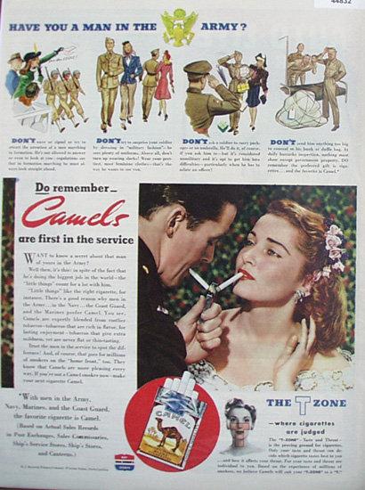 Camel Cigarettes 1943 Ad