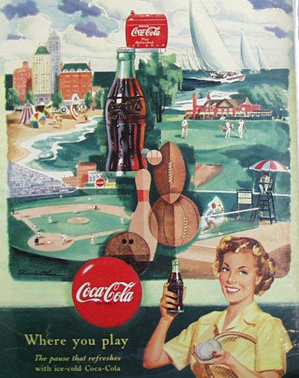 Coca Cola 1950 Ad