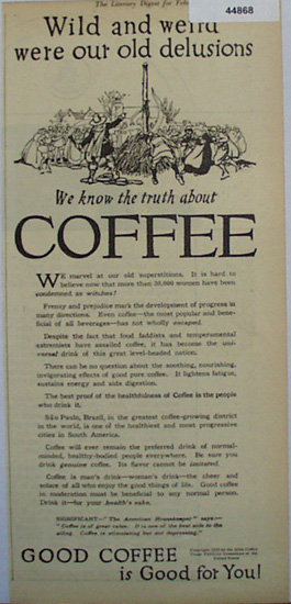 Joint Coffee Trade Publicity Committee 1920 Ad