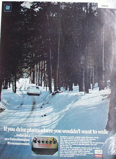 Delco Energizer Battery 1967 Ad