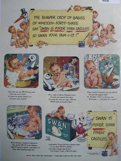 Swan Soap 1943 Ad