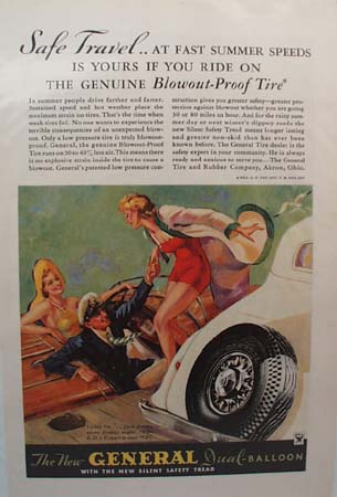 General Tire Safe Travel Ad 1934