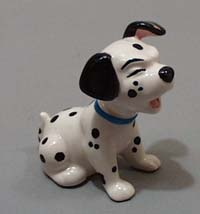 Disney Dalmation with one ear up.