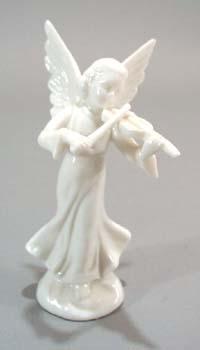 Bone porcelain Angel playing violin