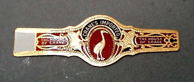 Crane's imported cigar band.  Cranes