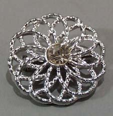 Newer Rhinestone pin with Flower look