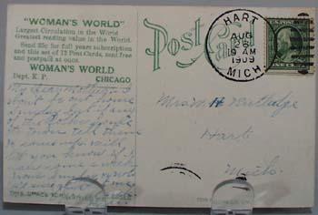 1909 PC Woman's World Ad.