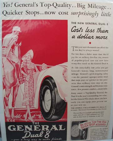 General Tire Top-Quality Ad 1938.