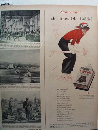 Old Gold Cigarette Snowonder Ad 1939