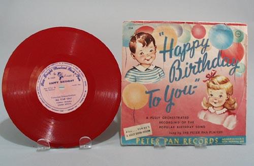 Peter Pan Record Happy Birthday #224.