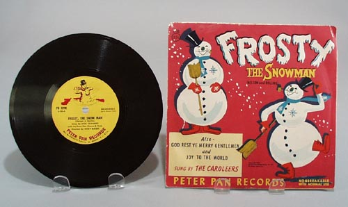 Peter pan records Frosty the Snow Man, L-30