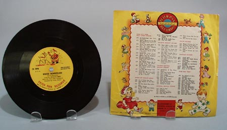 1955 peter pan record Winter Wonderland