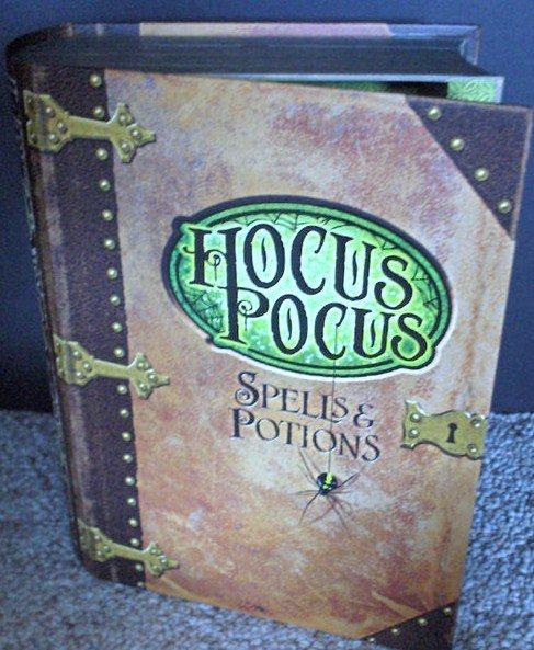 Hallmark 2011 Halloween Candy Box/Presenter w/ SOUND-Hocus Pocus Spell Book