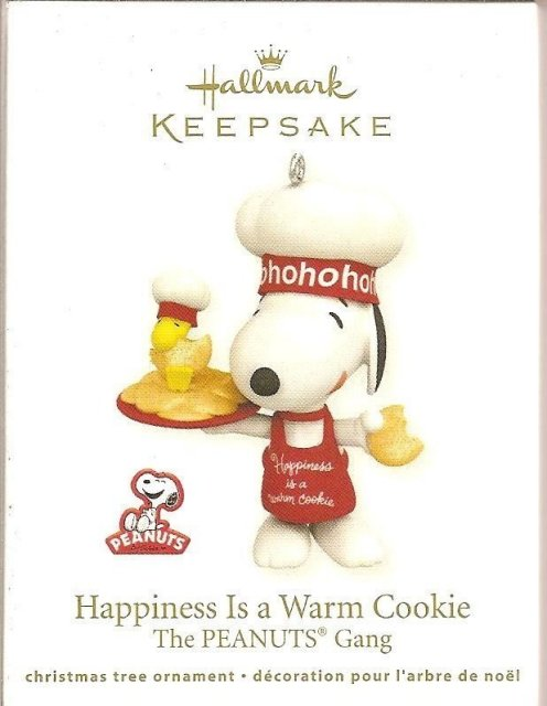 Hallmark 2011 HAPPINESS IS A WARM COOKIE Snoopy-Woodstock