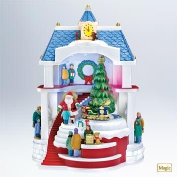 Hallmark 2011 SANTA COMES TO TOWN- Sound,Lights,Motion Christmas Ornament