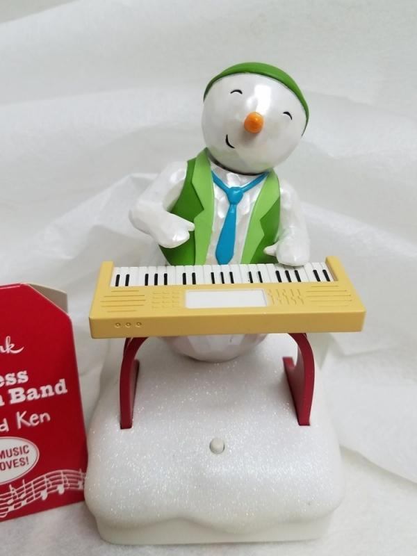 New! Hallmark 2010~Keyboard Ken~Wireless Snowman Band~Plays Music & Moves