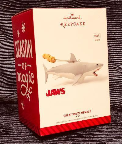 New~ Hallmark JAWS~ Great White Menace~Music~Rare 2014 Christmas Ornament