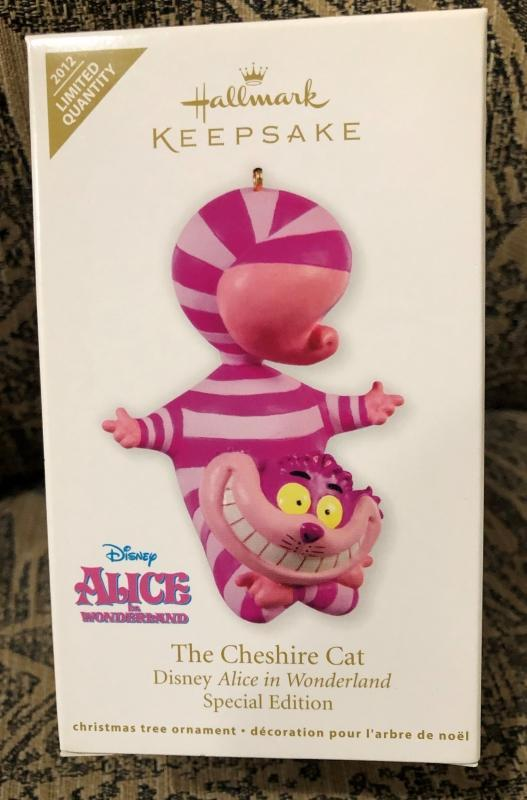 New! Hallmark CHESHIRE CAT~Disney~Alice in Wonderland~Limited Ed. 2012 Ornament