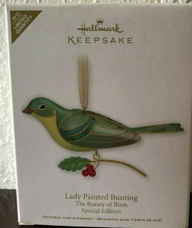 New! Hallmark LADY PAINTED BUNTING The Beauty Of Birds~Special Ed~2012 Ornament