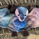 BATTY  Ty Beanie Baby BAT Tie Dyed Perfect for Halloween
