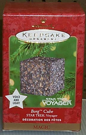 BORG CUBE Star Trek: Voyager Hallmark 2000 Ornament